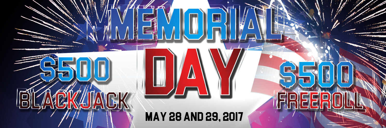 $1,000 memorial day freerolls