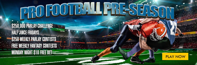 pre-season football promotions